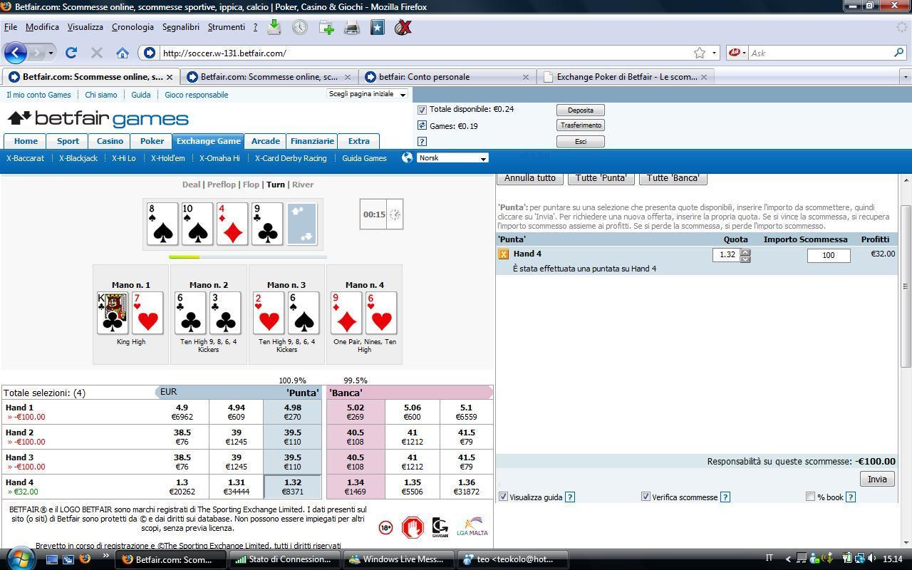 betfair exchange poker